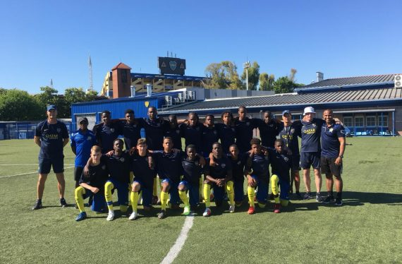 BARBADOS' NATIONAL FOOTBALL TEAM TRAINS IN ARGENTINA'S WORLD-CLASS BOCA JUNIORS FACILIT